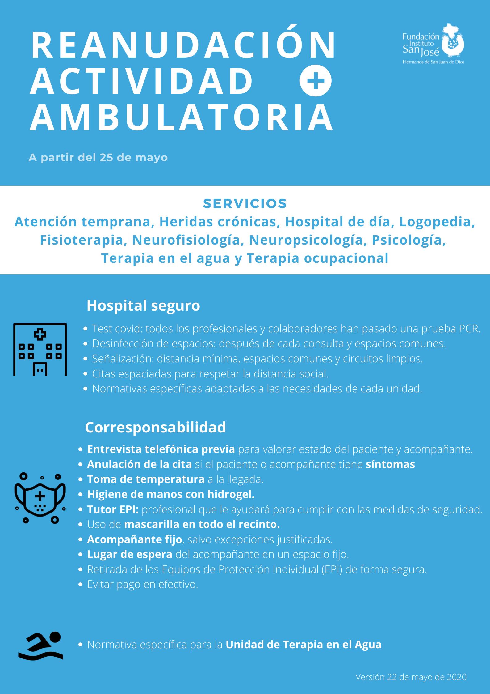 Guía básica reanudación actividad ambulatoria en FISJ