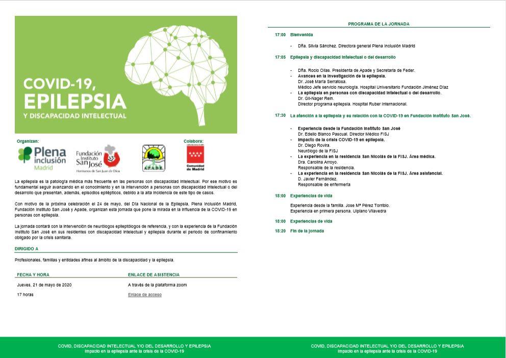 Programa jornada covid-19, epilepsia y discapacidad intelectual