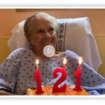 La paciente más veterana del hospital nos felicita en nuestro 121 Aniversario
