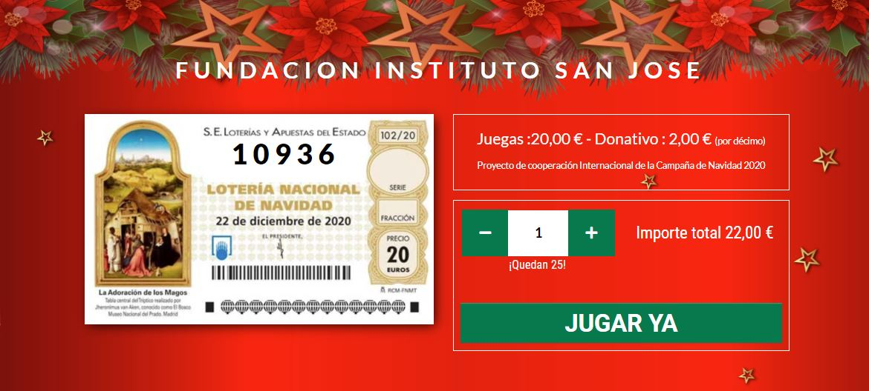 Décimo lotería de navidad Fundación