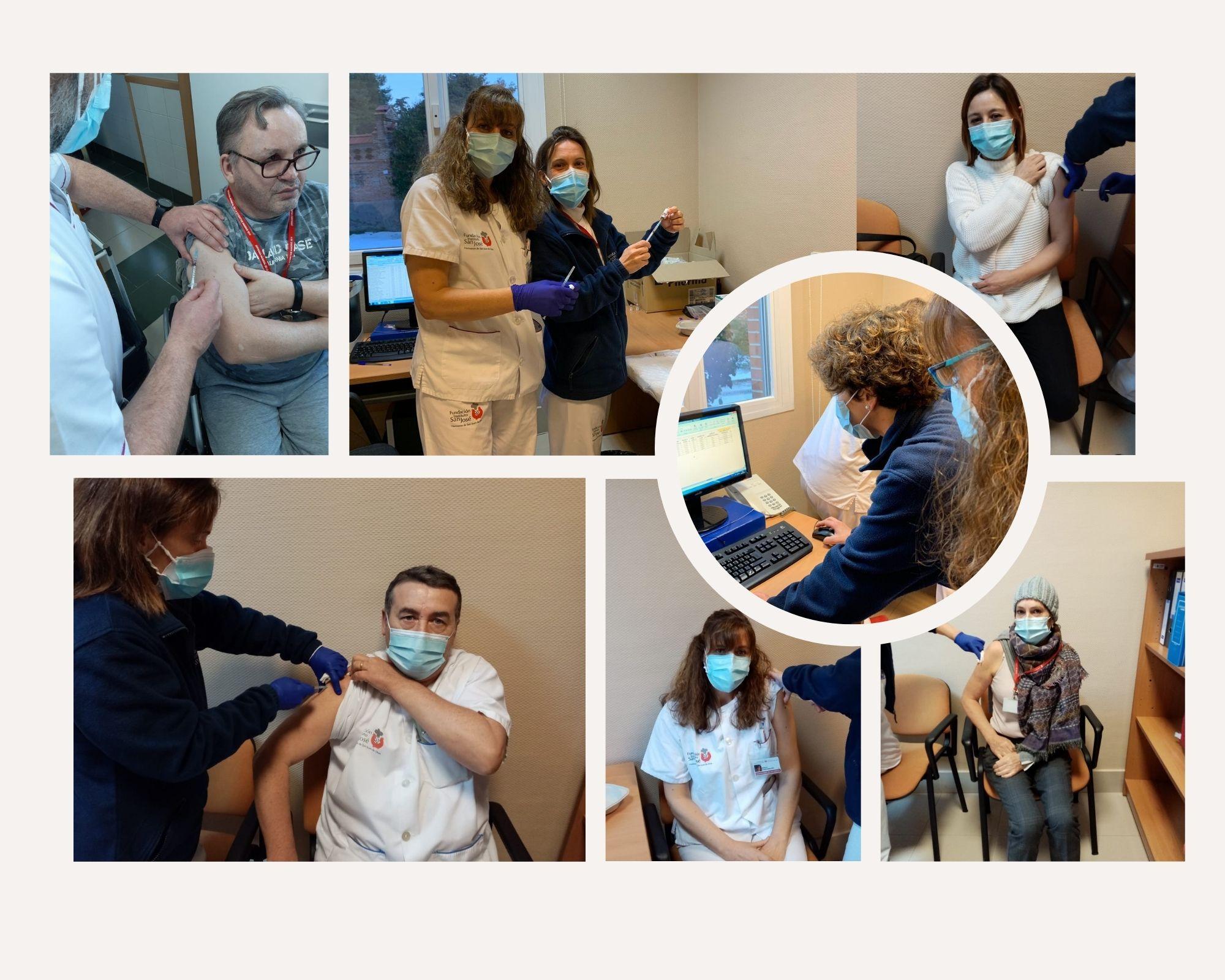 Comienza la vacunación frente al Covid-19 en la FISJ